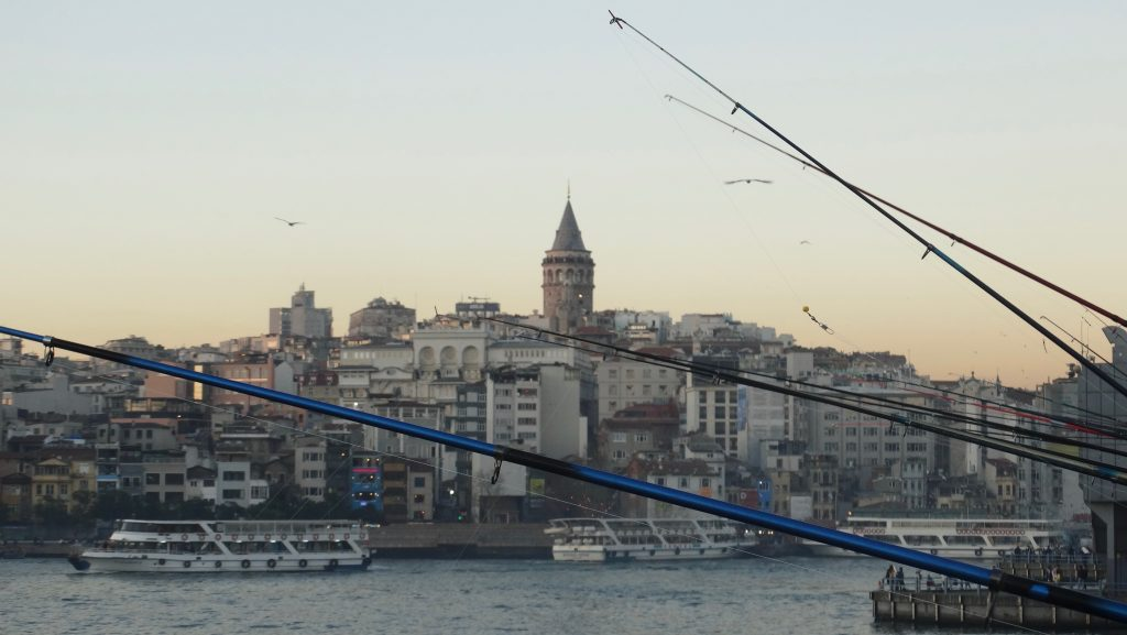 Fishing Rods on Galata Bridge