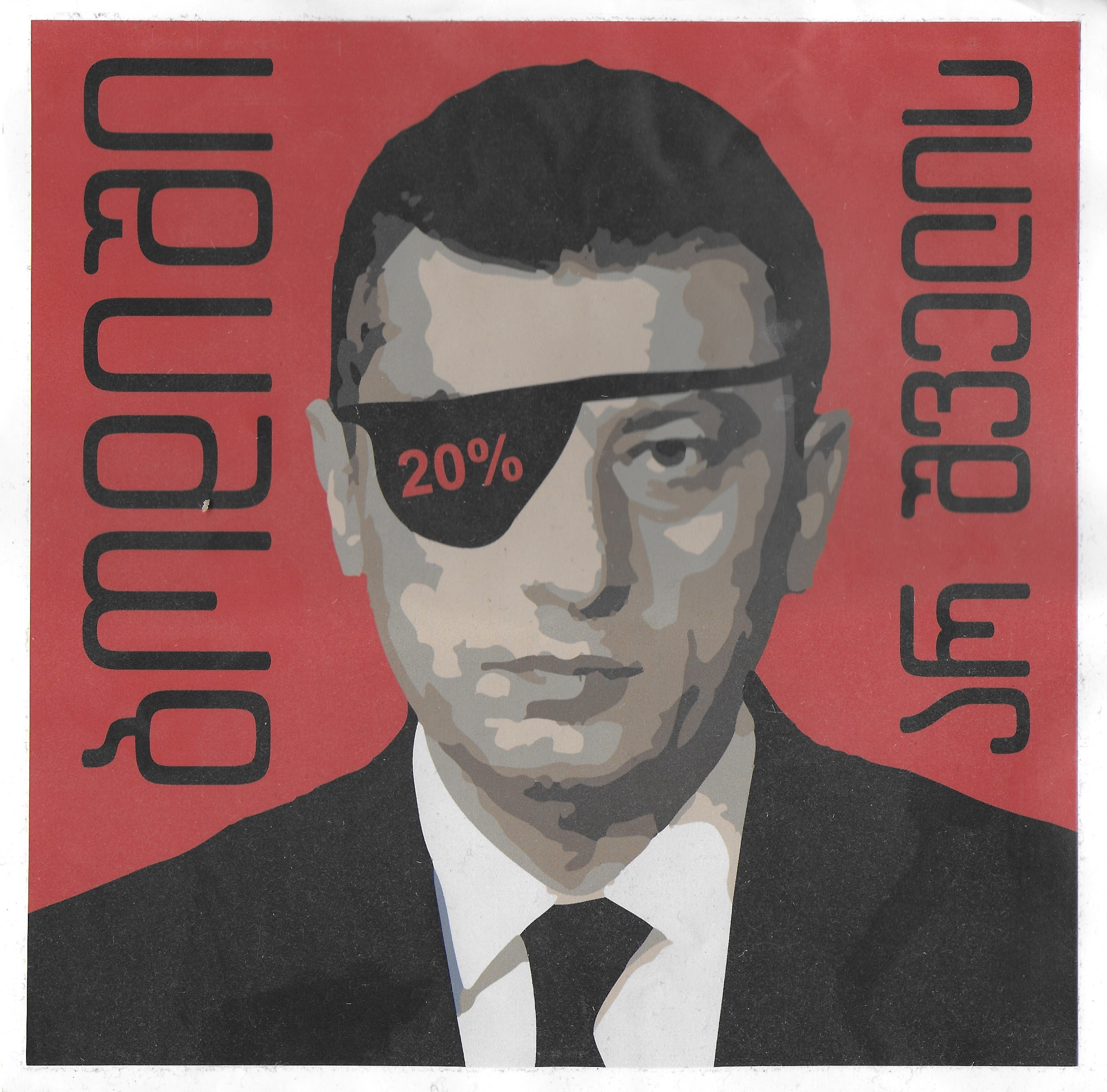 """Poster of Giorgi Gakharia from Tbilisi Protests reading """"Sorry is not enough"""""""