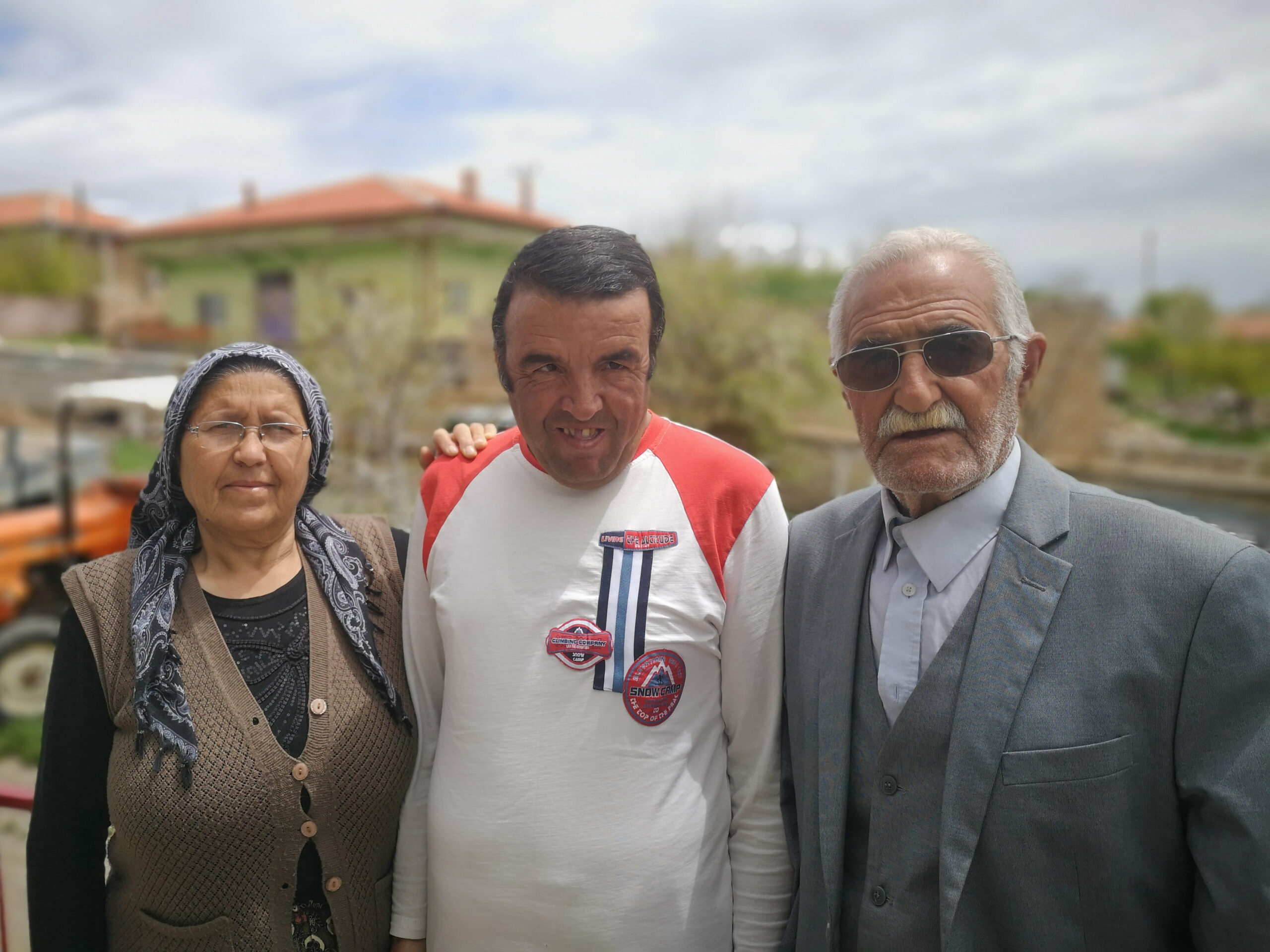 My hosts, Adile (left), Erkan (centre) and Ali (right) on their farm in Cumhuriyet, Anatolia.