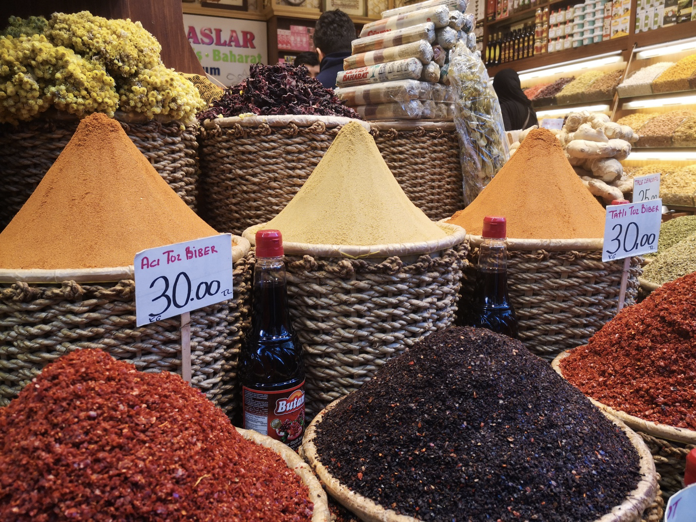 Spices in Istanbul's Spice Bazaar