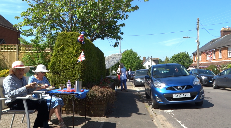 VE day on Mill Road, Steyning